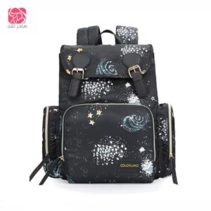Colorland-Diaper-Backpack-black-with-star-مادرلند
